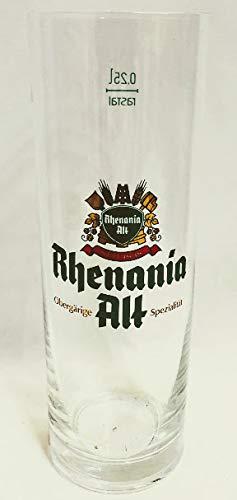 Rhenania Alt 0,25l Glas/Bierglas/Biergläser/Altbiergläser/Bier/Gastro/Bar/Sammler/Sammel / 6er Set