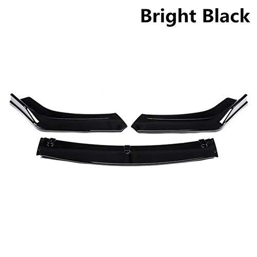ROYAL Star TY 3piece Carbonlook/Schwarz Auto Front Lower Bumper Lip Diffuser Spoiler Bodykit for Honda Civic Sedan for 4dr 2016 2017 2018 (Color : B)