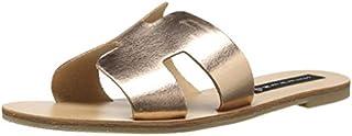 Steve Madden Women's Greece Flat Sandal, Rose Gold, 7 M US