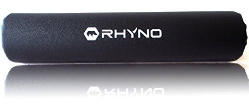 スクワットパッド バーベル シャフト パット 高級 PUレザー/肩 首 をサポート 保護/色選択可 ブラック 【RHYNO(ライノ)】