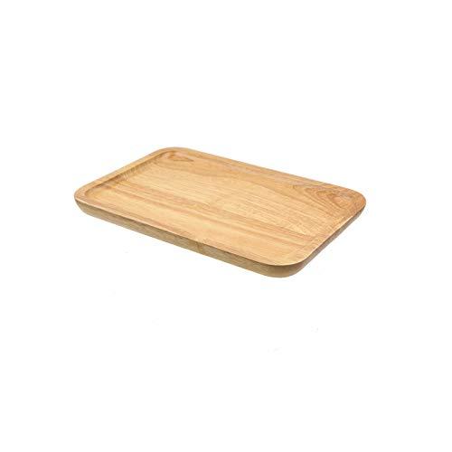 Bandejas Simple de madera maciza rectangular bandeja de té bandeja de la cena la placa del bocado bandeja de té de madera Bandeja 3 Especificaciones Disponible bandeja desayuno cama ( Size : Large )