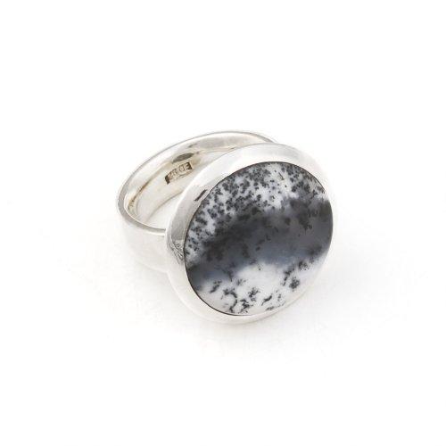 Erfurt Design Damen-Ring 925 Sterlingsilber Dendrit Gr. 57 1040111A36