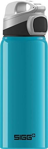 SIGG Miracle Alu Waterfall Kinder Trinkflasche (0.6l), schadstofffreie Kinderflasche mit auslaufsicherem Deckel, schöne Wasserflasche aus Aluminium