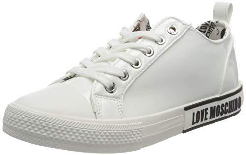Love Moschino JA15372G0BJG0, Baskets Femme, Blanc, 41 EU