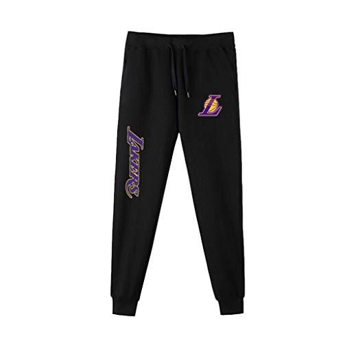 Pantalones De Baloncesto De Los Hombres Pantalón NBA Ocasionales Cómodos Lakers Kobe Bryant, Lebron James Correr Pantalones A-M