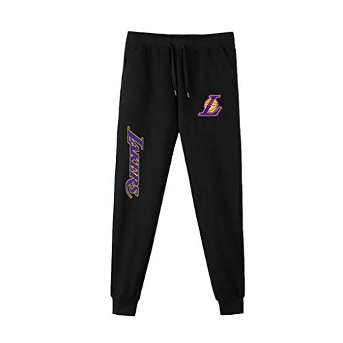 Pantalones De Baloncesto De Los Hombres Pantalón NBA Ocasionales Cómodos Lakers Kobe Bryant, Lebron James Correr Pantalones A-S