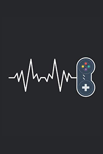 Gambling Gamer Gaming Heartbeat Heart Line Pulse Controller Video Game: Notebook - Notebook - Notepad - Diary - Planner - Lined - Lined Notebook - ... - 6 x 9 inches (15.24 x 22.86 cm) - 120 pages