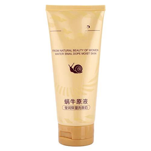 Limpiador facial, Crema limpiadora, Limpiador facial humectante líquido a base de caracol, Limpiador de espuma hidratante con poros retráctiles 100 g