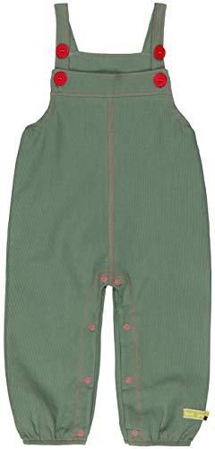 loud + proud Unisex Baby Latzhose Rippenstruktur, aus Bio Baumwolle, GOTS zertiziziert, Grün (Olive Oli), 80 (Herstellergröße: 74/80)