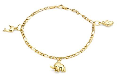 Carissima Gold Damen Charm 9 Karat (375) Gelbgold 180 mm 1.25.0841