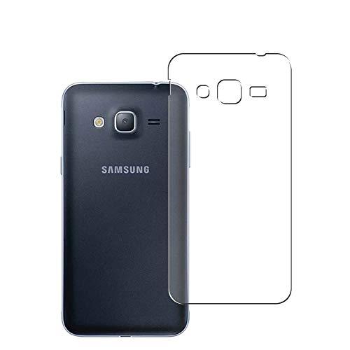 Vaxson 2 Unidades Protector de pantalla Posterior, compatible con Samsung Galaxy J3 2016 [No Vidrio Templado] TPU Película Protectora Espalda Skin Cover