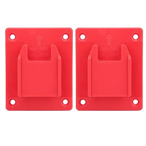 Soporte de fijación de herramientas eléctricas 2 uds soporte de herramientas eléctricas 9,5x7,5x2 cm, piezas de hardware, para taladro eléctrico Milwaukee M18 18 V / 20 V(rojo)