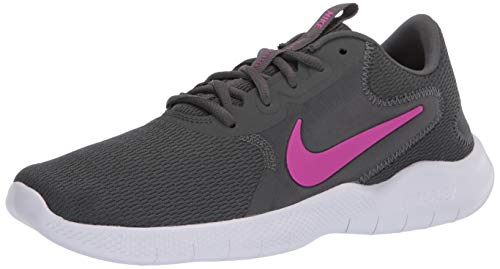 Nike Womens W Flex Experience RN 9 Running Shoe, Iron Grey/FIRE PINK-Smoke Grey,38.5 EU