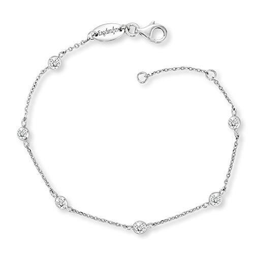 Engelsrufer - Damen Armbänder Moonlight mit Zirkonia Edelsteinen aus 925 Sterlingsilber, schlichtes funkelndes glitzer Silber Armband