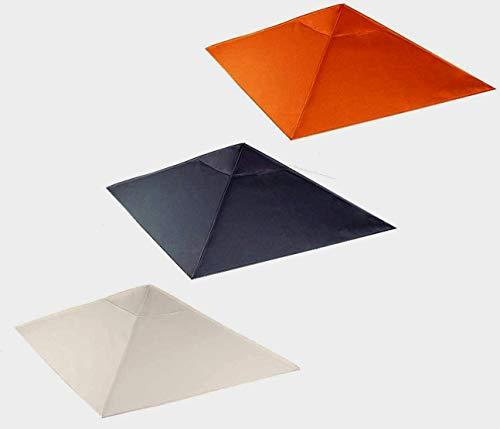 habeig Ersatzdach 340g/m² SPITZ Dach EXTRA STARK PVC Beschichtung Pavillondach Wasserdicht Pavillon ca 3x3m NEU (Terrakotta #53)