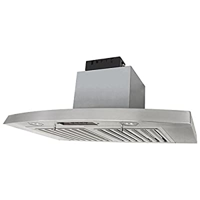 KOBE RAX2830SQB-2 Brillia 30-inch Under Cabinet Range Hood, 3-Speed, 650 CFM, LED Lights, Baffle Filters