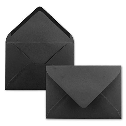 Enveloppes DIN B6//Noir//174x 120mm//110g/m²//nassklebung–QUALITÉ marque: Gustav neuser 100 Umschläge noir