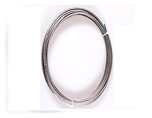 10m 7 * 7 0,6 mm 0,8 mm 1,2 mm 1,5 mm 1 mm 2 mm de Acero Inoxidable 304 Cuerda de Alambre Cuerda for Tender la Ropa Suave Pesca de elevación por Cable Cuerda De Acero (Size : 1mm 10M)