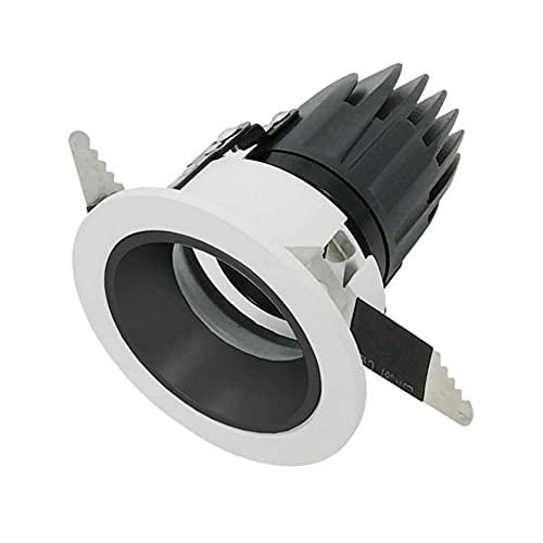 Foco empotrable LED COB 0-10V Foco LED Regulable Foco 3W5W7W10W12W15W Luz de Techo Tricolor IP40 Foco de baño de Aluminio Fundido a presión a Prueba de Agua CRI90 Foco empotrable