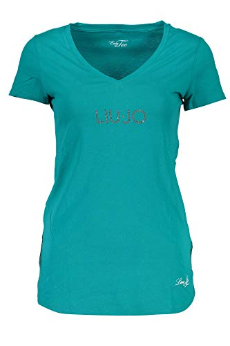 Liu Jo WXX015 JC231 T-Shirt Maniche Corte Donna Verde 75034 XS