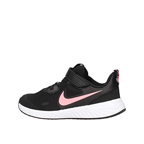 Nike Revolution 5, Running Shoe, Black/Sunset Pulse, 28 EU