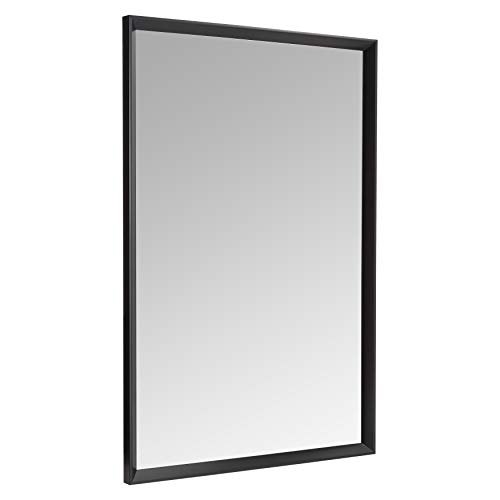 Amazon Basics Espejo para pared rectangular, 60,9 x 91,4 cm - marco biselado, negro