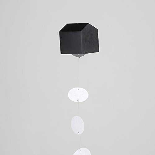 Nousaku Wind Bell Carillon Ohuchi Home Japonais Furine Faite à la Main Artefact Japon Craft Art Work (Noir Mat)