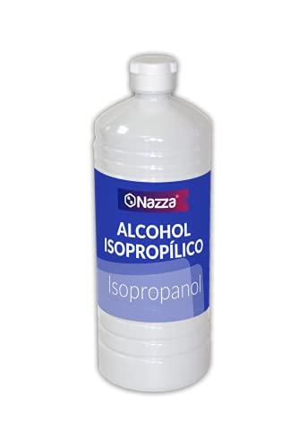 Alcohol Isopropílico Nazza IPA | 99,9% Isopropanol Puro | Limpieza de Componentes Electrónicos, Desinfección de Superficies, Pantallas, Objetivos, Móviles, Placas base | 1 Litro
