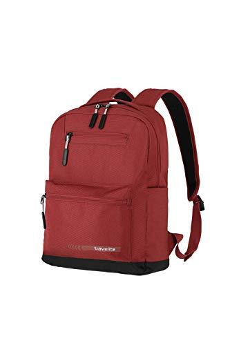 Travelite Handgepäck Rucksack Größe M erfüllt IATA Bordgepäck Maß, Gepäck Serie KICK OFF: Praktischer Rucksack für Urlaub und Sport, 006917-10, 40 cm, 17 Liter, rot