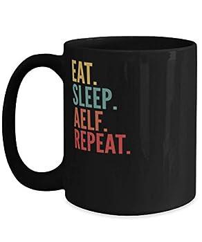 Aelf Crypto Eat Sleep Aelf Repeat Mug 15oz black