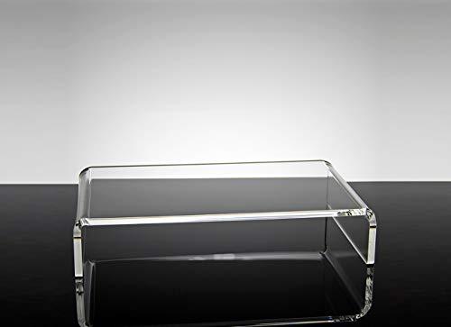 Universal-Ständer für Monitore, Computer, aus Plexiglas, transparent, Rea, groß (43 x 25 x 9 cm)