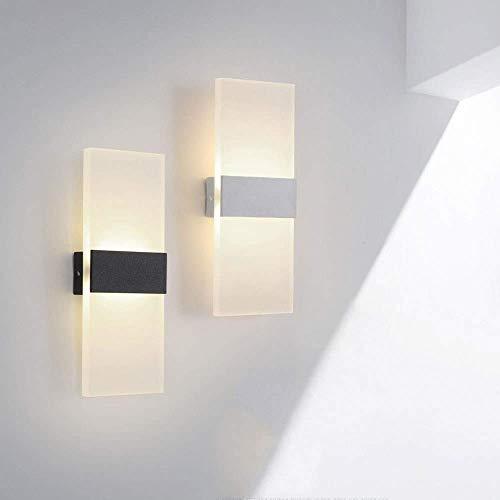 Boutique indoor lighting - Wall negro Lavado de luces 12W Moderno luz LED de pared del aplique de arriba abajo de la lámpara de pared lámpara de pared de aluminio Noche linterna for sala de estar, dor