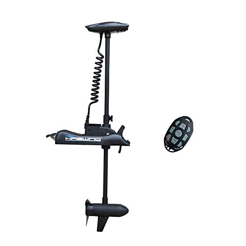 """AQUOS Black Haswing 24V 80LBS 48"""" Shaft Bow Mount Electric Trolling Motor Portable, Variable Speed for Bass Fishing Boats Freshwater and Saltwater Use, Energy Saving, Precise Control, Quiet Operation"""