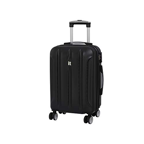 it luggage Proteus 8 Wheel Hard Shell Single Expander with TSA lock Suitcase, 54 cm, 47 L, Black