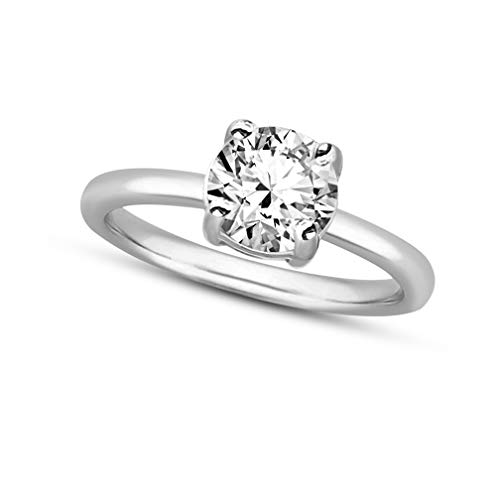 Mothers day gifts Diamond Ring for Mom Natural Diamond Ring IGI Certified 5/8 cttw Solitaire Diamond...