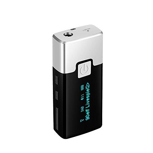 Docooler DAB + FM digitale radio draagbare tas DAB + ontvanger met hoofdtelefoon beeldscherm batterij