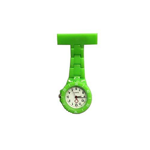 Cxypeng Unisex Taschenuhr Analog,Digitale Ringkrankenschwesteruhr aus Kunststoff, Studentenuhr Wandtafel-grün,Krankenschwester Revers
