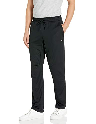 Reebok Herren-Trainingshose, Herren, Hosen, Workout Ready Knit Pant, schwarz, Small