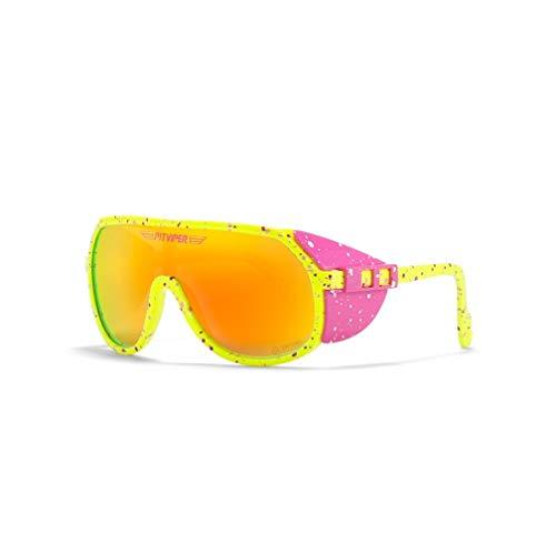 QMZZN Gafas de sol Pit Viper, doble ancho polarizado, espejo azul, lente Tr90, protección Uv400, gafas de sol deportivas para ciclismo C58