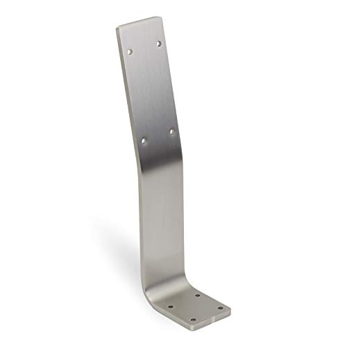 Rückenlehnenhalterung für Sitz-Bank & Betten Edelstahl 60 x 8 mm Sitzbank Rückenlehne Rückenlehnen-Halterung Banklehnenbügel von SO-TECH