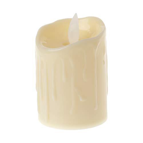 Exing Bougies Chauffe-Plat à LED sans Flamme pour Mariage Décoration de Noël