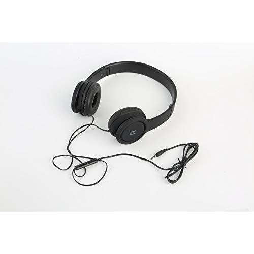 Morninganswer Auriculares inalámbricos sobre la oreja estéreo plegable con cable Radio FM para clase en línea, oficina en casa, PC, teléfonos celulares