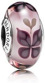 Pandora colgante de besos de mariposa de cristal de Murano color 791621