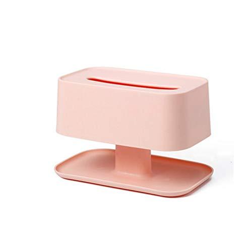 SMEJS Caja de pañuelos de Doble Capa, Caja de servilletas de Almacenamiento Multifuncional para el hogar, cajón, Sala de Estar, Mesa de Centro, Caja de pañuelos Creativa (Color : B)