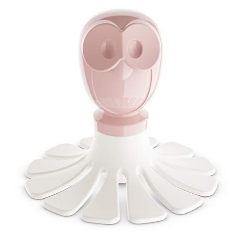 koziol Elli Tortenteiler, Kunststoff, powder pink mit weiß, 7.7 x 7.7 x 7.7 cm