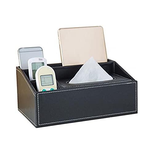Sostenedor del tejido Diseño particionado Caja de cuero sintética Caja de tejido para el hogar Mesa de escritorio Teléfono Teléfono Teléfono Papel de papel Servilleta Caja de almacenamiento Organizado