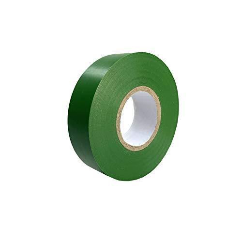 Keephot 15 mm x 20 m, nastro isolante elettrico forte in PVC Gaffer, impermeabile, resistente all'umidità, non conduttivo, resistente ai raggi UV (verde)