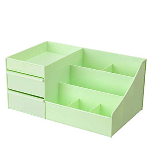 BOX Cosmétiques Boîte de Rangement de Type Tiroir de Bureau En Plastique Rouge À Lèvres Bijoux Soins de La Peau Produits de Stockage D'Affichage Boîte,Vert