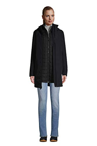 Lands' End Womens 3 in 1 Squall Coat Black Regular X-Large