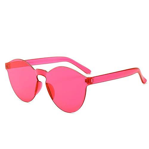 Gosunfly Nueva pieza de gafas de sol, pieza de océano de color caramelo, gafas de sol masculinas, gafas de sol de moda para mujer-rosa rojo